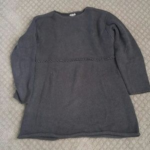 Size m rolled bottom empire waist gray J Jill swea